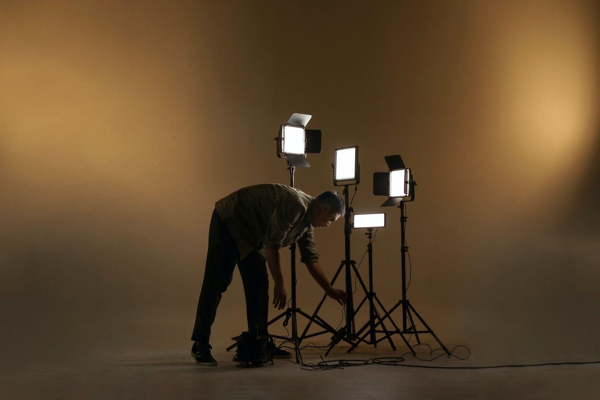 Cinematography lighting setup