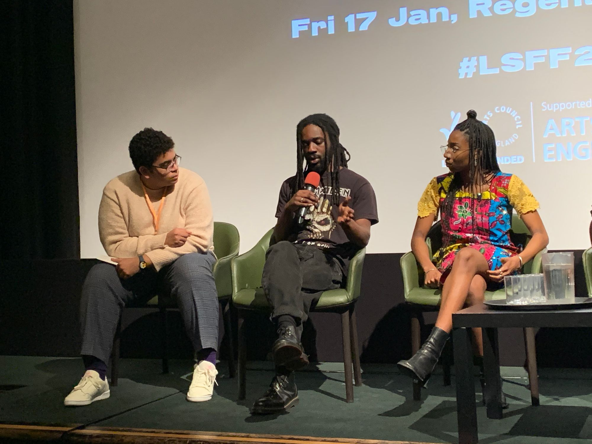 artistic director philip ilson at london short film festival in london talk on stage