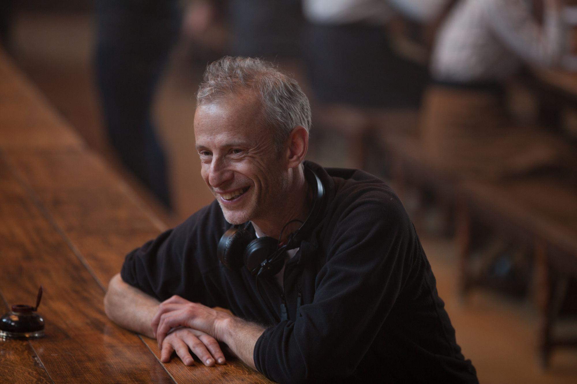 Film Director James Kent on the set Testament of Youth movie backstage images