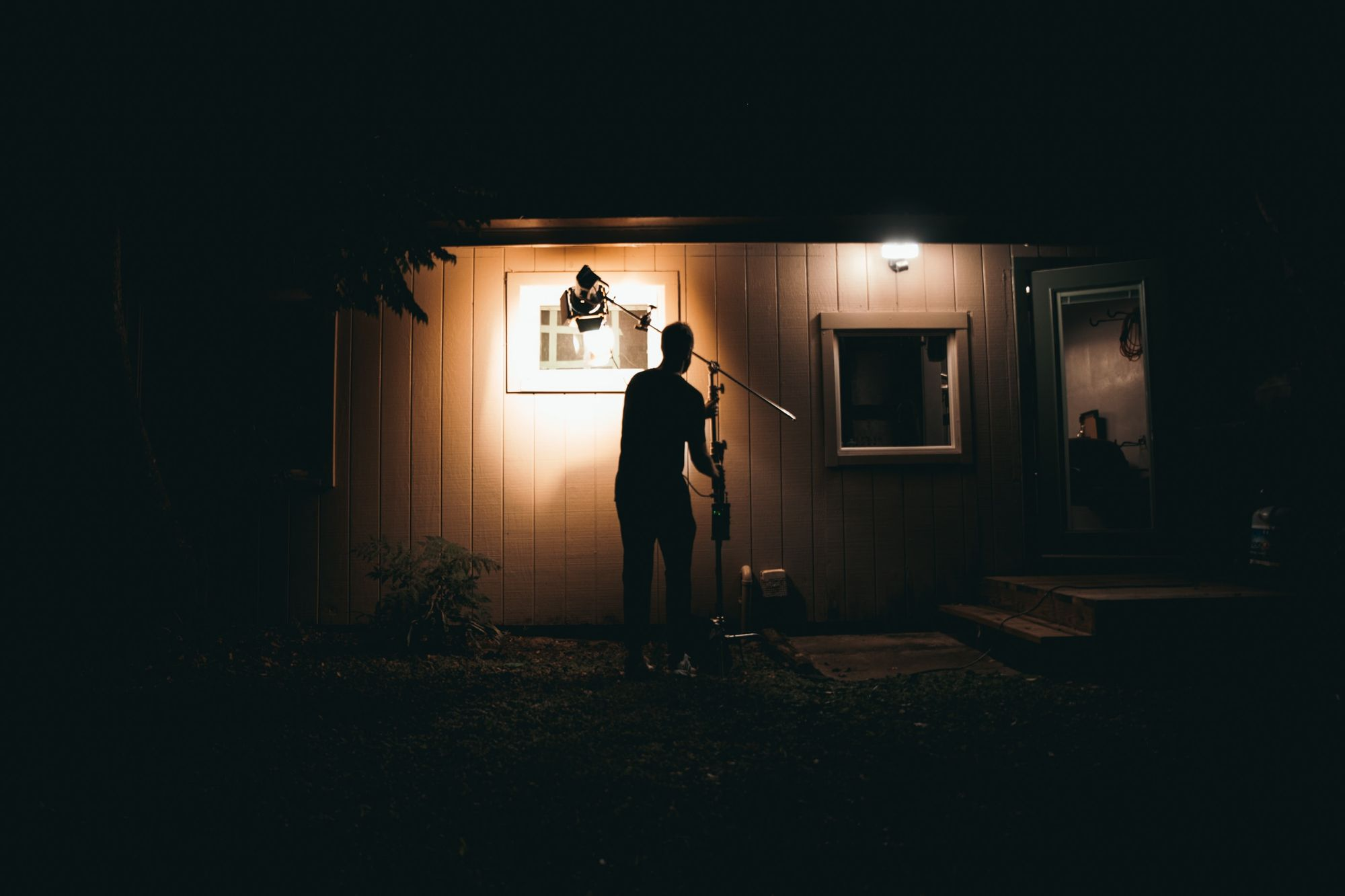 Low key film light