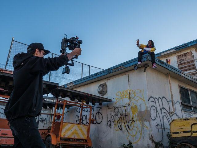 Professional camera filmmaker