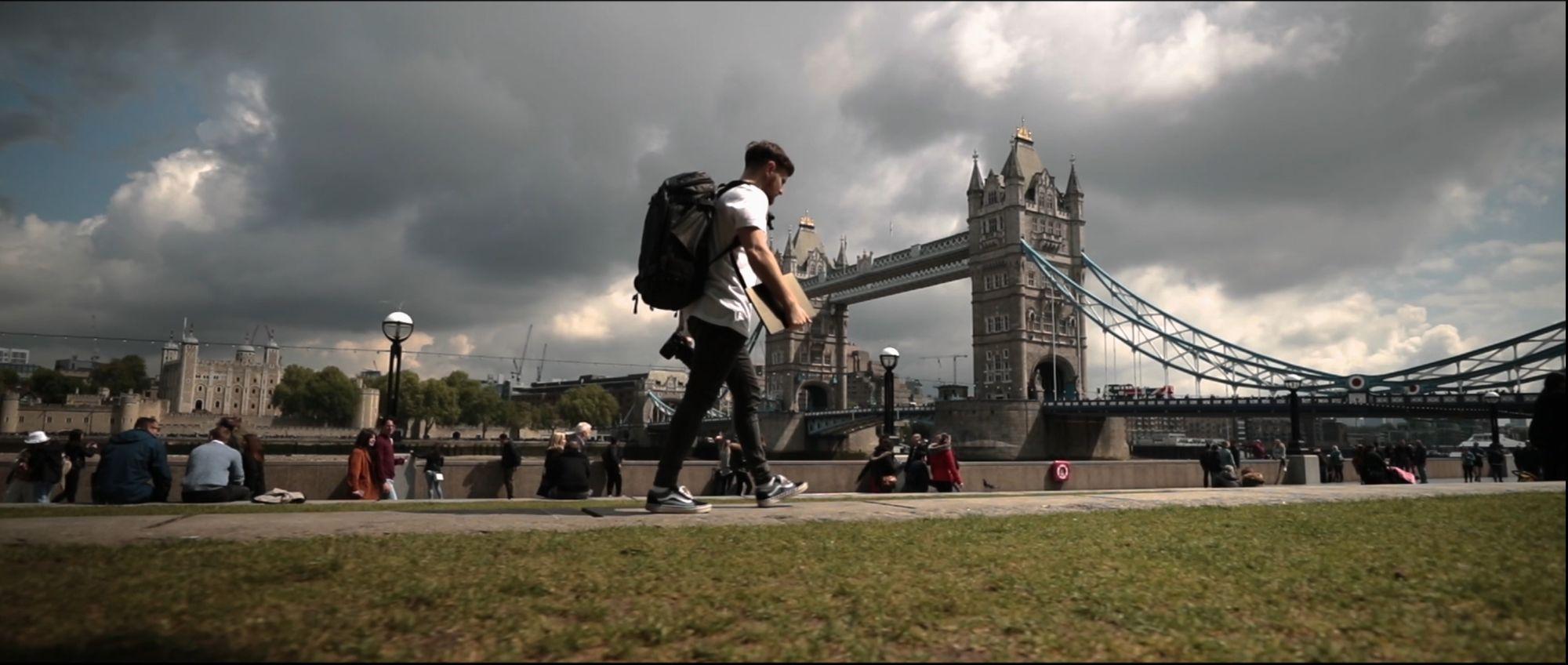 Film location near the Tower Bridge